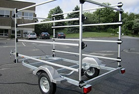 Custom Trailer and Storage Racks are available for any application