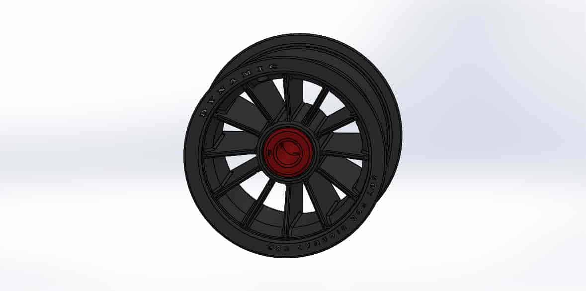 Large Wheel Assem_WHEEL RIM II AND INNER RACE 3_03-02-15